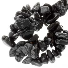 Perles Chips Obsidienne Flocon de Neige  (8 - 12 mm) 150 pièces