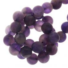 Perles Améthyste Givrées (8 mm) 46 pièces
