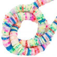 Perles en Polymère (6 x 1 mm) Mix Color Neon (300 pièces)