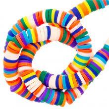Perles en Polymère (6 x 1 mm) Mix Color Bright (300 pièces)