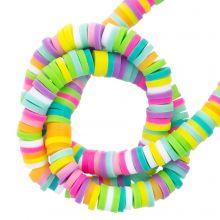 Perles en Polymère (4 x 1 mm) Mix Color Happy (300 pièces)