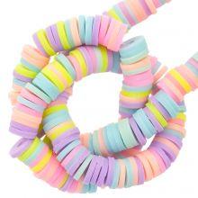 Perles en Polymère (6 x 1 mm) Mix Color Pastel (300 pièces)