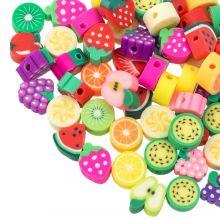 Mélange de Perles en Polymère Fruit (tailles diverses) Mix Color (60 pièces)