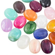 Perles Acryliques Aspect Pierre Naturelle (19 x 15 mm) Mix Color (35 pièces)