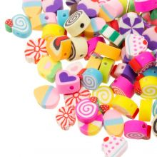 Mélange de Perles en Polymère (11 x 5 mm) Mix Color (50 pièces)