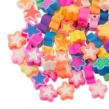 Mélange de Perles en Polymère Étoile (9 x 4.5 mm) Mix Color (50 pièces)