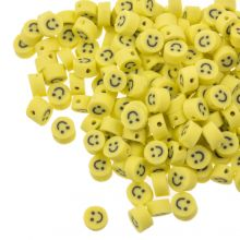 Perles en Polymère Smiley (5 x 3 mm) Yellow (50 pièces)