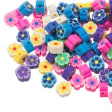 Mélange de Perles en Polymère Fleur (9 x 4 mm) Mix Color (50 pièces)