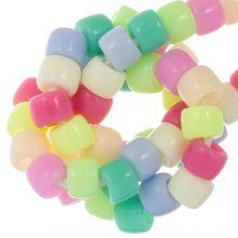 Perles Acryliques (8 x 6 mm) Mix Color (100 pièces)
