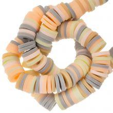 Perles en Polymère (6 x 1 mm) Mix Color Vanilla (300 pièces)
