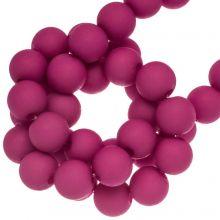 Perles Acryliques Mat (8 mm) Hot PInk (200 pièces)