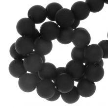 Perles Acryliques Mat (8 mm) Black (100 pièces)