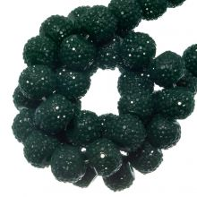 Perles Acryliques Avec Strass (4 mm) Pine Green (45 pièces)