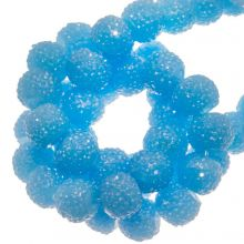 Perles Acryliques Avec Strass (4 mm) Water Blue (45 pièces)