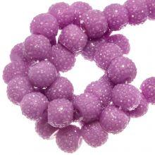 Perles Acryliques Avec Strass (4 mm) Pink Orchid (45 pièces)