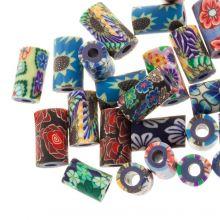 Mélange de Perles en Polymère (11 x 6 mm) Mix Color (25 pièces)
