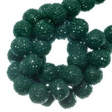 Perles Acryliques Avec Strass (4 mm) Teal (45 pièces)