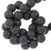 Perles Acryliques (8 mm) Dark Grey (100 pièces)