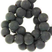 Perles Acryliques Mat (6 mm) Dark Grey (100 pièces)