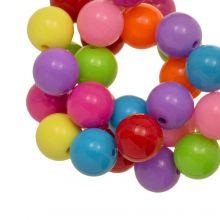 Perles Acryliques (12 mm) Mix Rainbow (54 pièces)