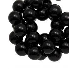Perles Acryliques (12 mm) Black (50 pièces)