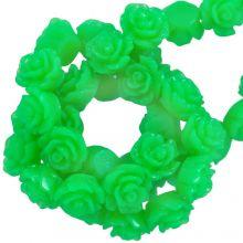 Perles Rose En Résine (6 x 4 mm) Neon Green (40 pièces)