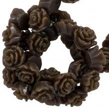 Perles Rose En Résine (6 x 4 mm) Dark Brown (40 pièces)