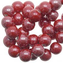 Perles en Céramique (10 mm) Red (20 pièces)