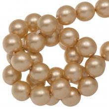 Perles en Verre Cirées DQ (6 mm) Semolina Matt (80 pièces)