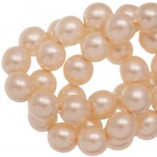 Perles en Verre Cirées DQ (6 mm) Tangerine Matt (80 pièces)