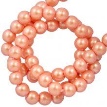 Perles en Verre Cirées DQ (2 mm) Orange Sherbet (150 pièces)