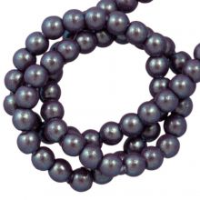 Perles en Verre Cirées DQ (2 mm) Plum (150 pièces)