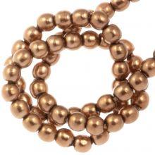 Perles en Verre Cirées DQ (2 mm) Antique Bronze Gold (150 pièces)