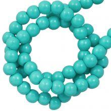 Perles en Verre Cirées DQ (2 mm) Turquoise (150 pièces)