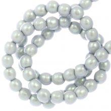 Perles en Verre Cirées DQ (2 mm) Smoked Silver (150 pièces)