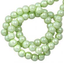 Perles en Verre Cirées DQ (2 mm) Mint Green (150 pièces)