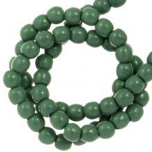 Perles en Verre Cirées DQ (2 mm) Hartford Green (150 pièces)