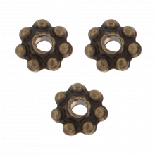 Perles En Métal (4 mm) Bronze (40 pièces)