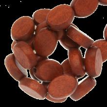 perles en bois oval red jasper coulour