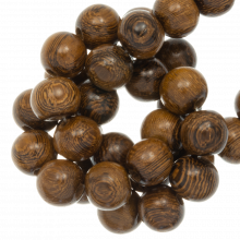 perles en bois marron coulour 5 mm