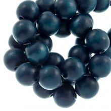perles en bois petrol  blauw intense coulour 10 mm