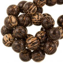 18 mm perles en bois marron