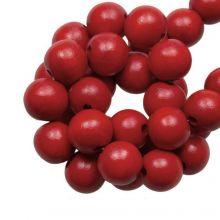 Perles En Bois Look Intense (12 mm) Red Rose (70 pièces)