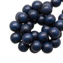 perles en bois autour de bleu 10 mm