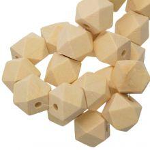 Perles En Bois Naturel Cube (16 mm) 25 pièces