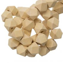 Perles En Bois Naturel Cube (12 mm) 25 pièces
