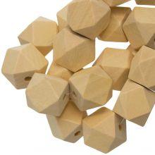 Perles En Bois Naturel Cube (22 mm) 25 pièces