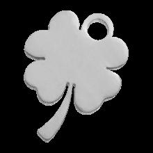 Acier inoxydable Breloque Trèfle à feuilles (10 x 9 mm) Argent Antique (4 pièces)