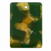 Breloque En Résine (22 x 15 mm) Dark Green (5 pièces)