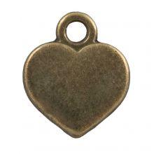 Breloque Cœur (14 x 10 mm) Bronze (25 pièces)
